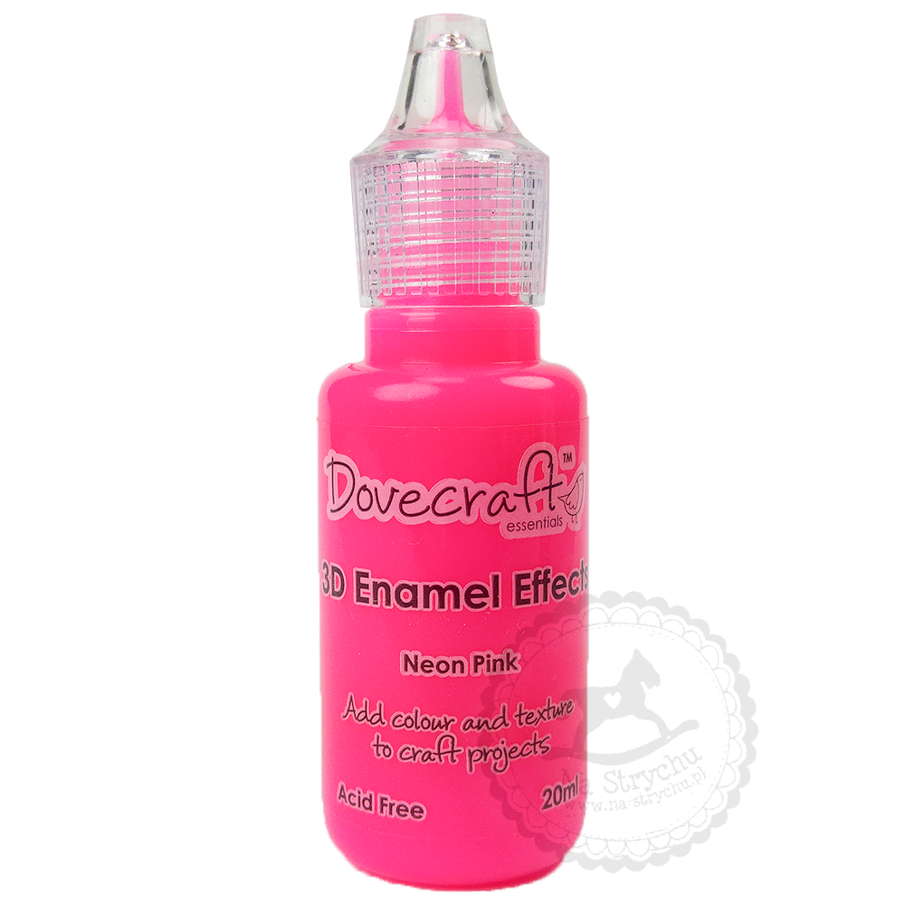 3D Enamel Effects - Dovecraft - Neon Pink