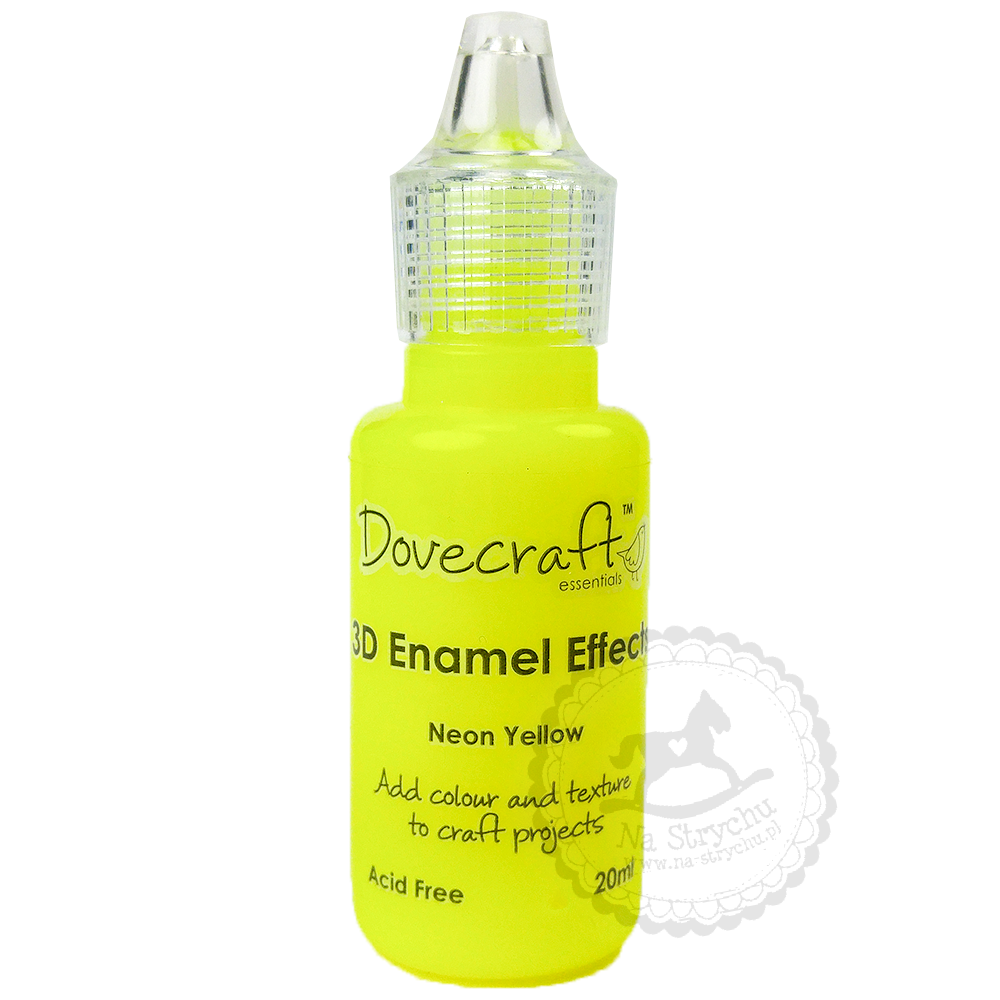 3D Enamel Effects - Dovecraft - Neon Yellow
