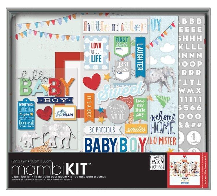 Album box kit - Cool Baby Boy - Me & My Big Ideas - chłopczyk
