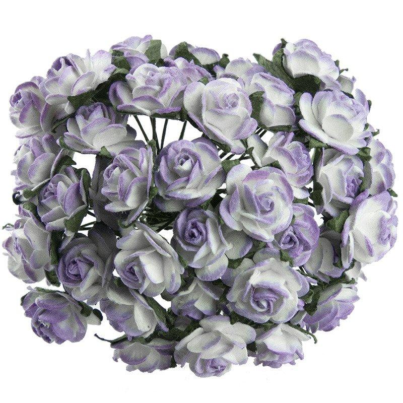 2-tonowe liliowe różyczki otwarte