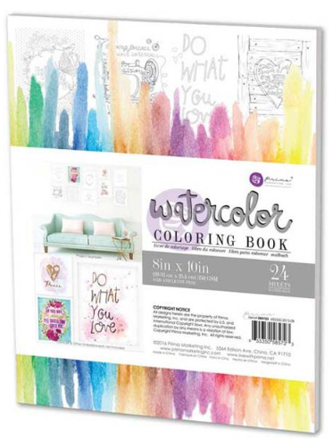 Decor Coloring Book - Prima - kolorowanki na papierze akwarelowym