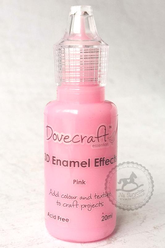 3D Enamel Effects - Dovecraft - Pink - różowe