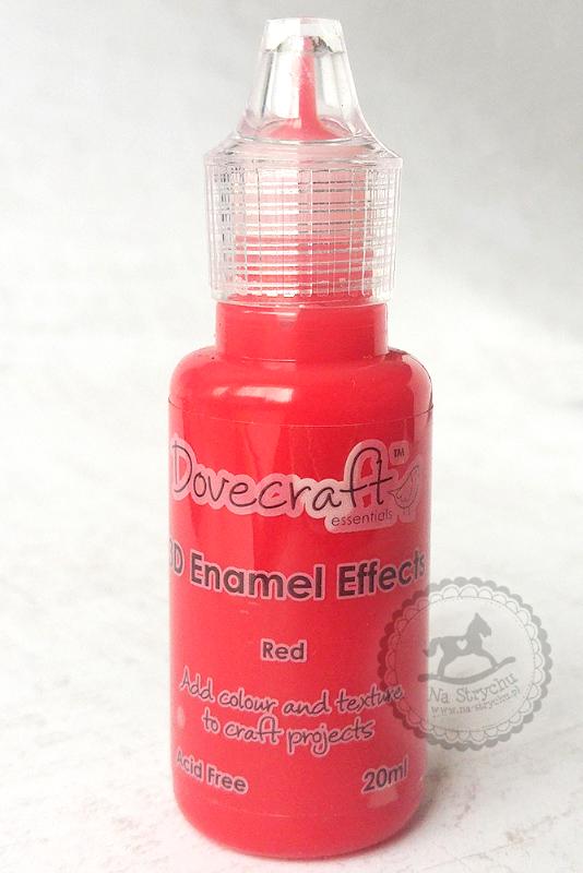 3D Enamel Effects - Dovecraft - Red - czerwone