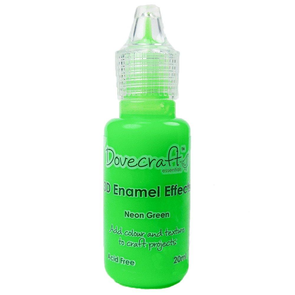 3D Enamel Effects - Dovecraft - Neon Green