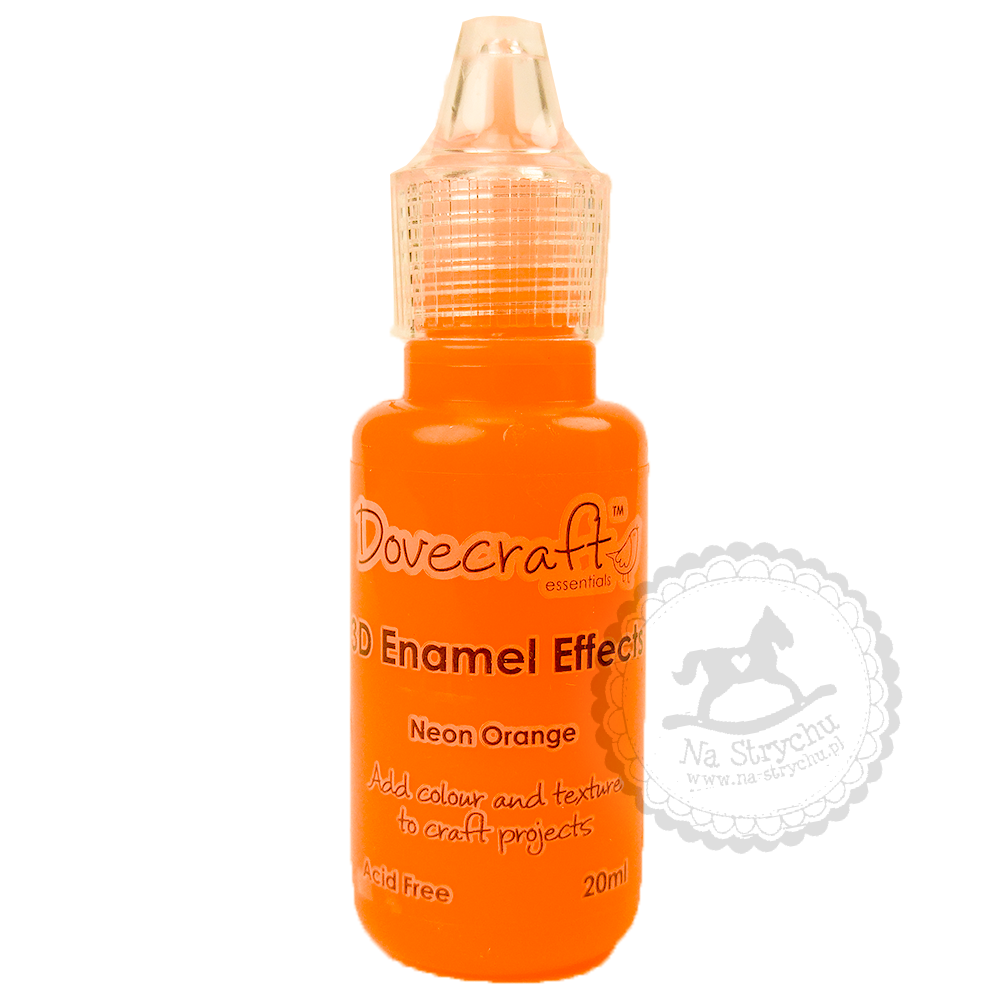 3D Enamel Effects - Dovecraft - Neon Orange