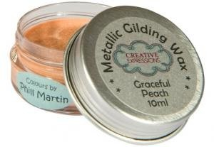 Gilding Wax - Phill Martin Cosmic Shimmer - Graceful Peach