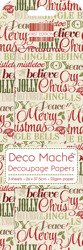 Papier do decoupage - First Edition - Xmas Words