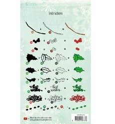 Stempel - StudioLight - Layered Christmas nr 10 - ostrokrzew