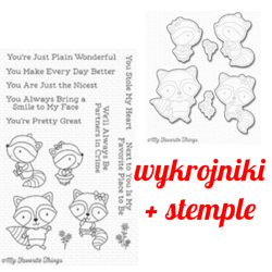 Stemple+wykrojniki - My Favorite Things - Raving Raccoons / szop