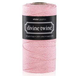 Sznurek Solid Light Pink Divine Twine - 5m - Whisker Graphics - jasnoróżowy