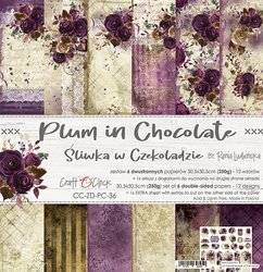Zestaw papierów 30,5x30,5 - Craft o'clock - Plum in Chocolate