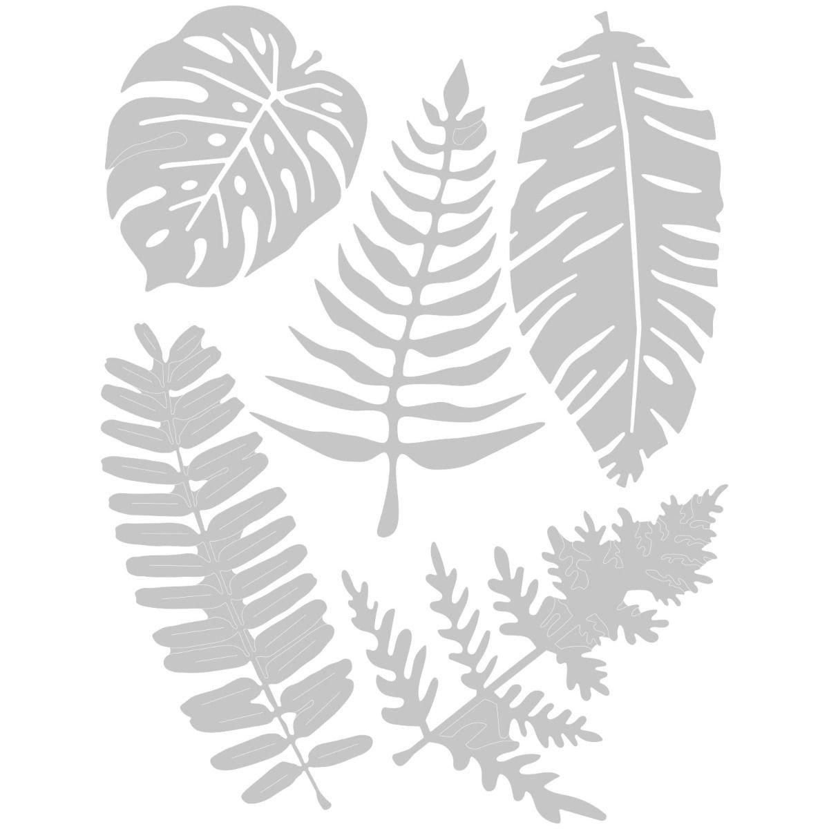 Wykrojnik Sizzix Thinlits Large Tropicals Liscie 128623 Sklepik Na Strychu