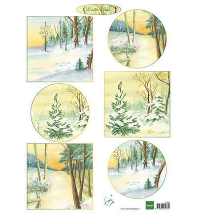 Arkusz A4 - Marianne Design - Winter wood