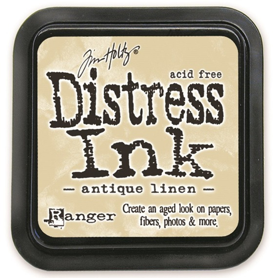 Distress Ink Pad - Ranger - Tim Holtz - Antique Linen - tusz