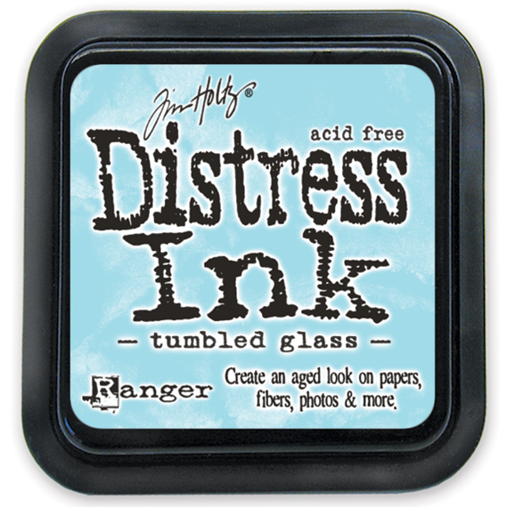 Distress Ink Pad - Ranger - Tim Holtz - Tumbled Glass - błękitny tusz