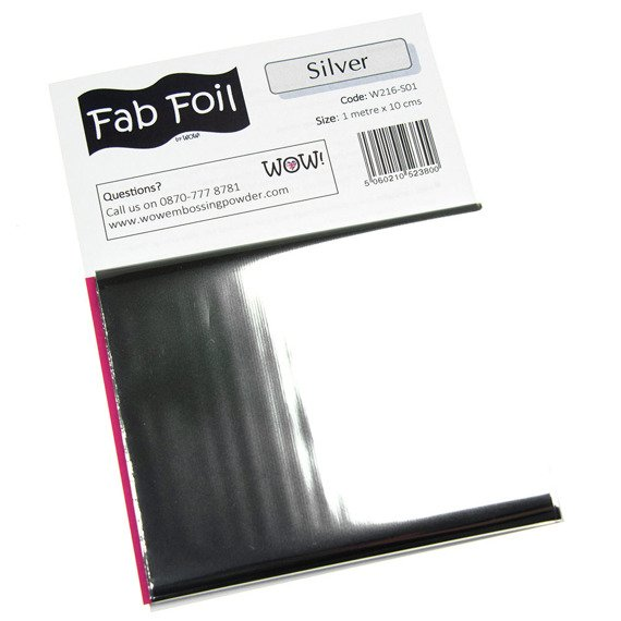 Folia do transferu Fabulous Foil - Wow! - Bright Silver - jasne srebro