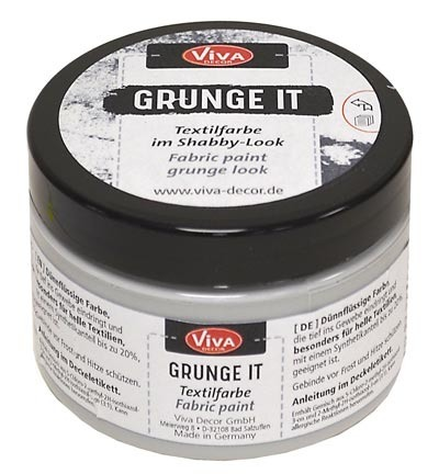 Grunge It Concrete - Viva Decor - szara farba do tkanin