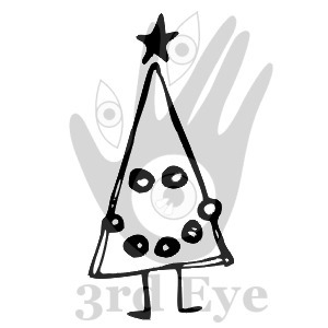 Happy Xmas - stempel gumowy - 3rd Eye