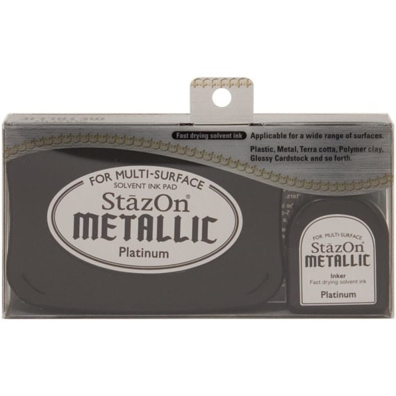Metaliczny StazOn - Metallic Platinum - Tsukineko