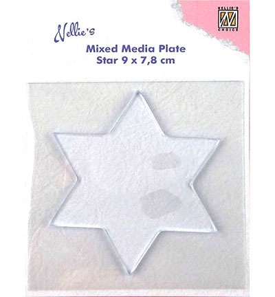 Mixed Media Plate Star - Nellie's Choice - gwiazda 90mm