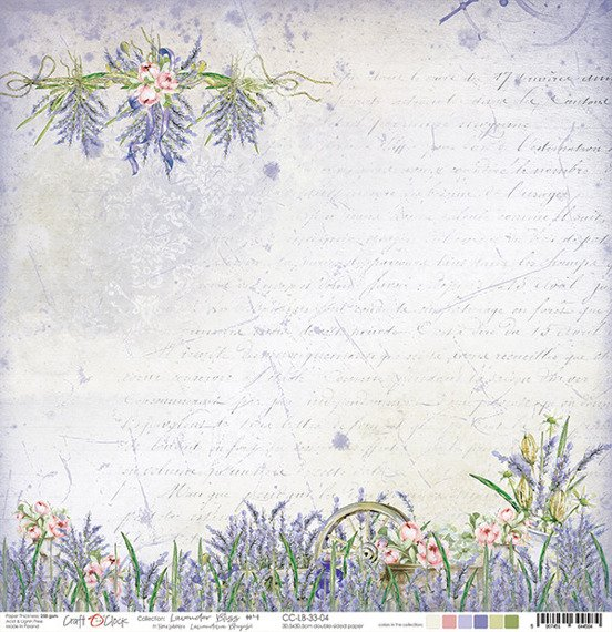 Papier 30,5x30,5 - Craft o'clock - Lavender Bliss 04