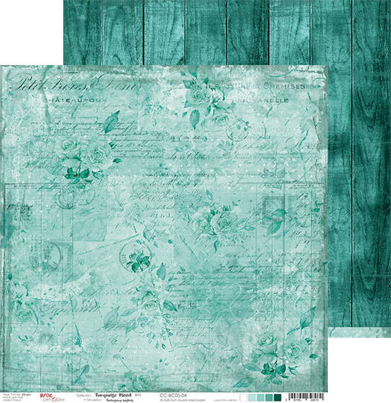 Papier 30,5x30,5 - Craft o'clock - Turquoise Mood 04