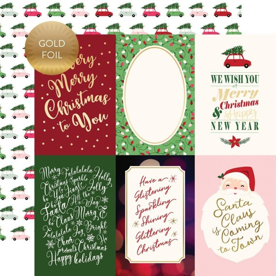 Papier 30x30 - Echo Park - Merry and Bright - 4x6 Journaling Cards