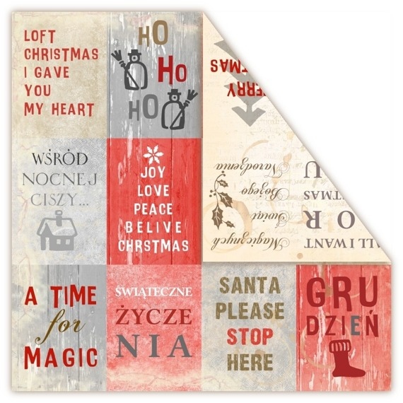 Papier 30x30 - LOFT Christmas - Wishes - UHK Gallery
