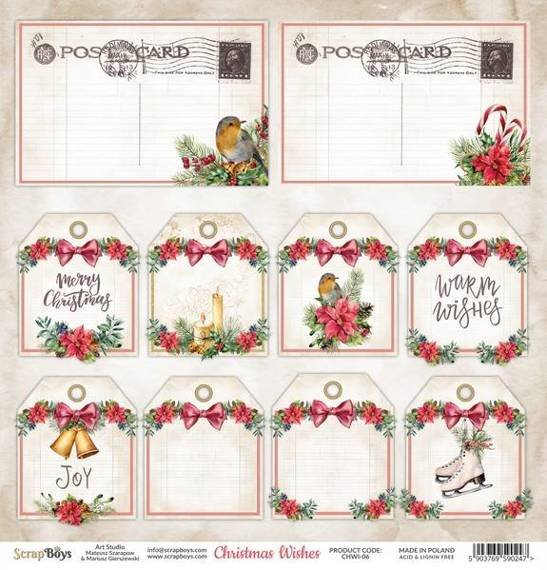 Papier 30x30 - Scrapboys - Christmas Wishes 06