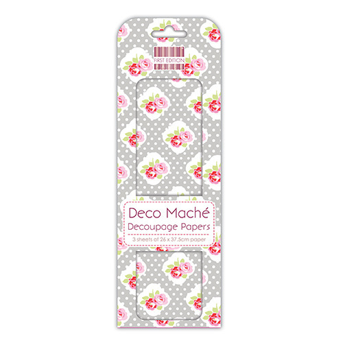 Papier do decoupage - First Edition - Polka Rose