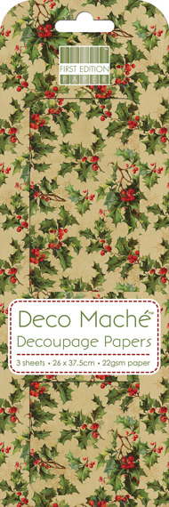 Papier do decoupage - First Edition - Vintage Holly