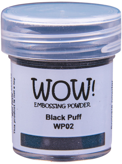 Puder do embossingu - Wow! - Puff Colours Black