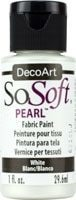 Sosoft Fabric Shimmering Pearls White