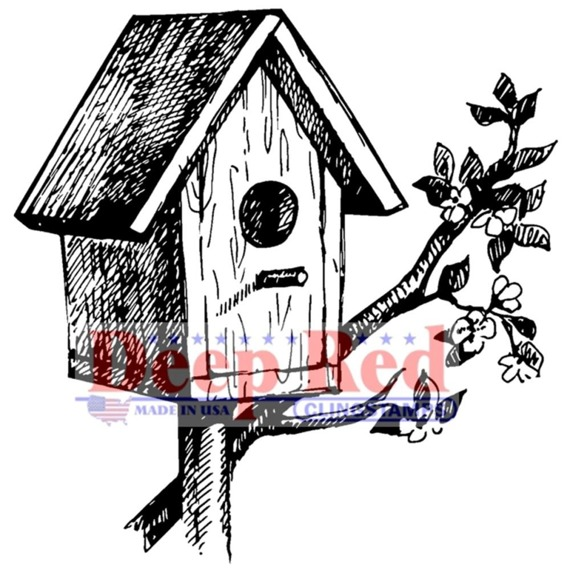 Stempel - Deep Red - Rustic Birdhouse