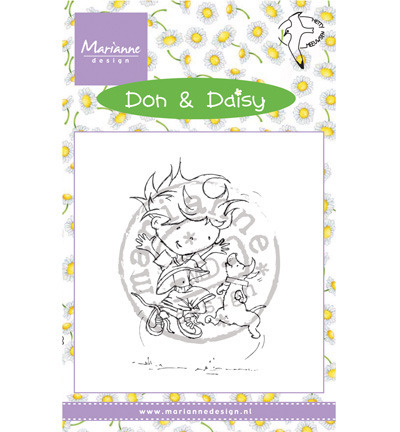 Stempel - Marianne Design - Don & Daisy Freeze Frame DDS3350 chłopiec i pies