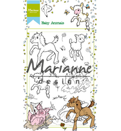 Stempel - Marianne Design - Hetty's baby animals - koniki