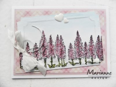 Stempel - Marianne Design - Tiny's border: foxgloves, kwiat
