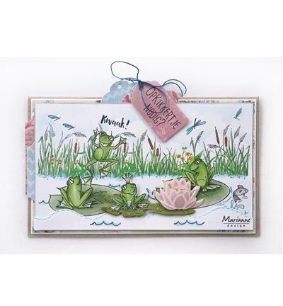 Stempel - Marianne design - Hetty's border: Pond - jezioro