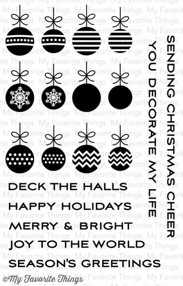 Stempel - My Favorite Things - Ornament Banner Builder DC-58 bombki