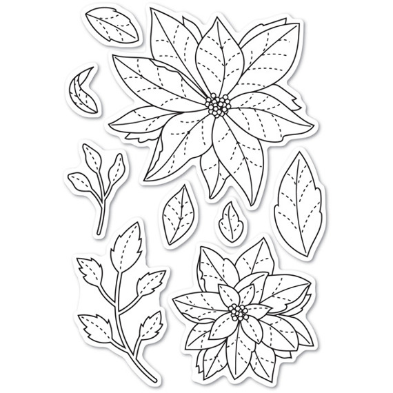 Stempel - Poppystamps - Poinsettia Delights - poinsecje