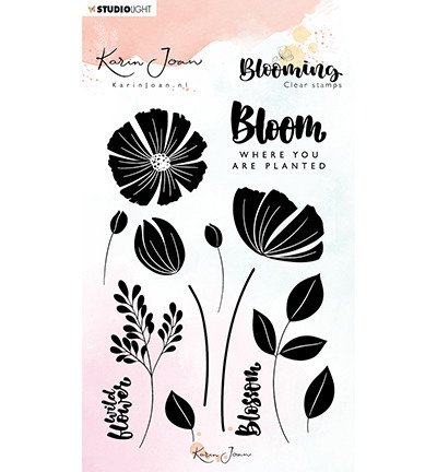 Stempel - StudioLight - Blooming Collection nr 01 kwiaty