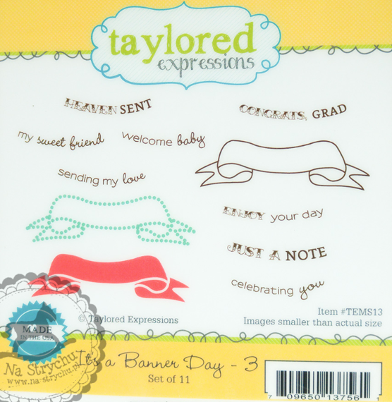 Stempel - Taylored Expressions - It's a Banner Day 3 - wstęgi