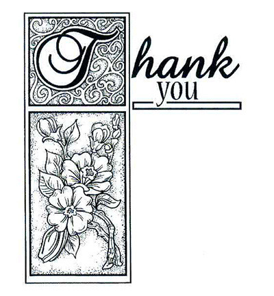 Stempel - Thank You - Dziękuję UMS109 - Creative Expressions