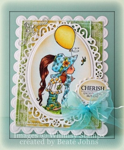 Stempel - Whimsy Stamps - Lemon Pepper EB1005 dziewczyna