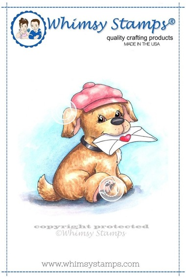 Stempel - Whimsy Stamps - Special Delivery Pup - piesek z listem
