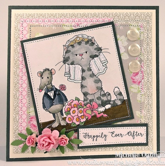 Stempel - Whimsy Stamps - Wedding the Odd Couple - kot i pies, ślub