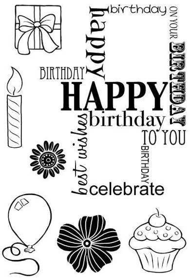 Stempel - Woodware - Birthday Grid