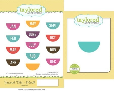 Stempel + wykrojnik - Taylored Expressions - Journal Tabs-Month