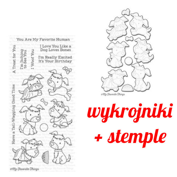 Stemple+wykrojniki - My Favorite Things - Puppy Pals