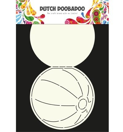Szablon A4 - Card Art - Beach ball - Dutch DooBaDoo